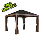 Sojag Valencia 12 x 12 ft. Gazebo with Wood Looking Finish