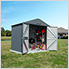 Elite 8' x 6' Steel Storage Shed
