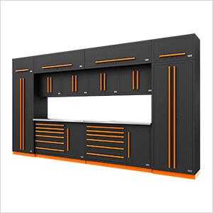 Fusion Pro 14-Piece Garage Storage System (Orange)