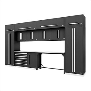 Fusion Pro 14-Piece Garage Cabinetry System (Silver)