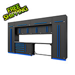 Proslat Fusion Pro 14-Piece Garage Cabinetry System (Blue)