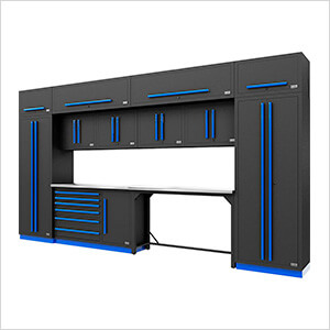 Fusion Pro 14-Piece Garage Cabinetry System (Blue)