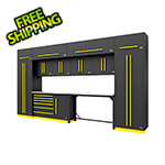 Proslat Fusion Pro 14-Piece Garage Cabinetry System (Yellow)