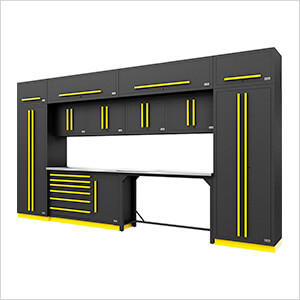 Fusion Pro 14-Piece Garage Cabinetry System (Yellow)