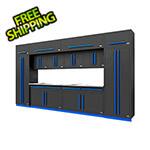 Proslat Fusion Pro 14-Piece Garage Cabinet Set (Blue)