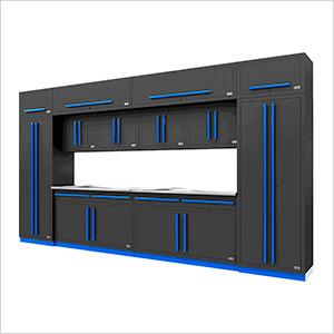 Fusion Pro 14-Piece Garage Cabinet Set (Blue)