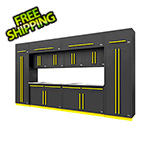 Proslat Fusion Pro 14-Piece Garage Cabinet Set (Yellow)