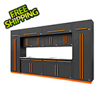 Proslat Fusion Pro 14-Piece Garage Cabinet System (Orange)