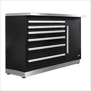 Fusion Pro Tool Chest with Stainless Steel Work Surface (Silver)