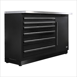 Fusion Pro Tool Chest with Stainless Steel Work Surface (Black)