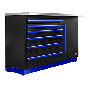 Fusion Pro Tool Chest with Stainless Steel Work Surface (Blue)