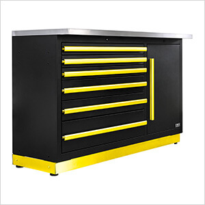 Fusion Pro Tool Chest with Stainless Steel Work Surface (Yellow)