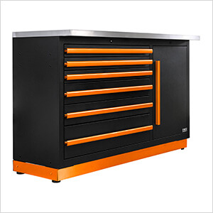 Fusion Pro Tool Chest with Stainless Steel Work Surface (Orange)