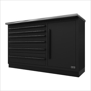 2 x Fusion Pro Tool Chests with Stainless Steel Work Surfaces (Black)