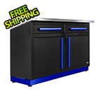 Proslat 2 x Fusion Pro Base Cabinets with Stainless Steel Work Surfaces (Blue)