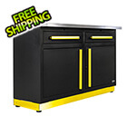 Proslat 2 x Fusion Pro Base Cabinets with Stainless Steel Work Surfaces (Yellow)