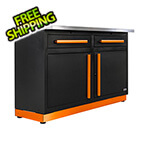 Proslat 2 x Fusion Pro Base Cabinets with Stainless Steel Work Surfaces (Orange)