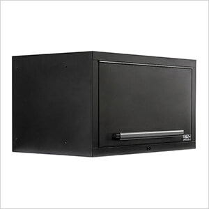 """2 x Fusion Pro Wall Mounted 32"""" Overhead Cabinets (Black)"""