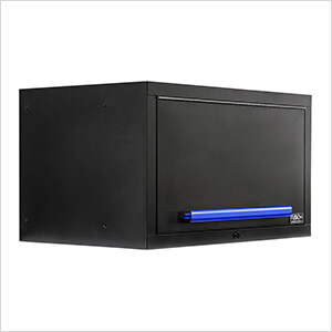 """2 x Fusion Pro Wall Mounted 32"""" Overhead Cabinets (Blue)"""
