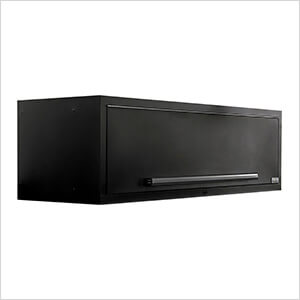 "2 x Fusion Pro Wall Mounted 62"" Overhead Cabinets (Black)"