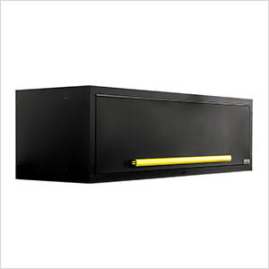 """2 x Fusion Pro Wall Mounted 62"""" Overhead Cabinets (Yellow)"""