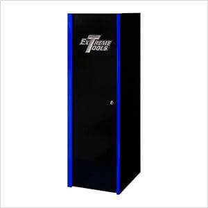 DX Series 19-Inch Black Side Locker Cabinet with Blue Trim