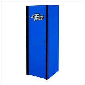 DX Series 19-Inch Blue Side Locker Cabinet with Black Trim