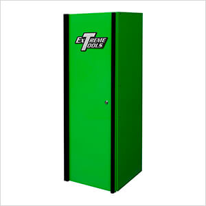 DX Series 19-Inch Green Side Locker Cabinet with Black Trim