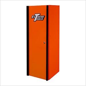 DX Series 19-Inch Orange Side Locker Cabinet with Black Trim