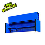 Extreme Tools DX Series 72-Inch Blue Triple Bank Hutch with Black Trim