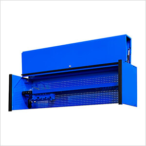 DX Series 72-Inch Blue Triple Bank Hutch with Black Trim