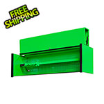 Extreme Tools DX Series 72-Inch Green Triple Bank Hutch with Black Trim