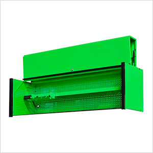 DX Series 72-Inch Green Triple Bank Hutch with Black Trim