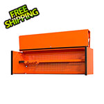 Extreme Tools DX Series 72-Inch Orange Triple Bank Hutch with Black Trim