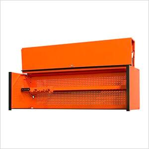 DX Series 72-Inch Orange Triple Bank Hutch with Black Trim