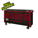 Extreme Tools DX Series 72-Inch Black Rolling Tool Chest with Red Trim