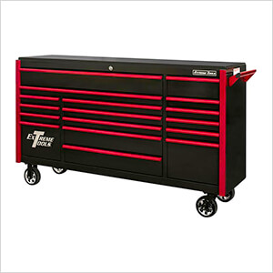 DX Series 72-Inch Black Rolling Tool Chest with Red Trim