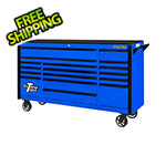 Extreme Tools DX Series 72-Inch Blue Rolling Tool Chest with Black Trim