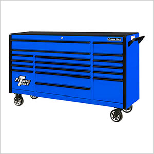 DX Series 72-Inch Blue Rolling Tool Chest with Black Trim