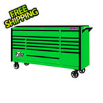 Extreme Tools DX Series 72-Inch Green Rolling Tool Chest with Black Trim