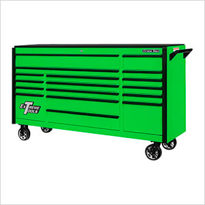 DX Series 72-Inch Green Rolling Tool Chest with Black Trim