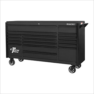 DX Series 72-Inch Black Rolling Tool Chest with Black Trim