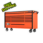 Extreme Tools DX Series 72-Inch Orange Rolling Tool Chest with Black Trim