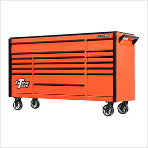 DX Series 72-Inch Orange Rolling Tool Chest with Black Trim
