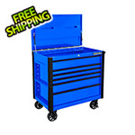 Extreme Tools EX Series Blue 41-Inch 6-Drawer Tool Cart with Bumpers