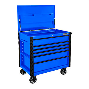 EX Series Blue 41-Inch 6-Drawer Tool Cart with Bumpers