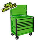 Extreme Tools EX Series Green 41-Inch 6-Drawer Tool Cart with Bumpers