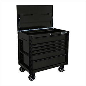 EX Series Black 41-Inch 6-Drawer Tool Cart with Bumpers