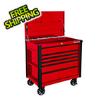 Extreme Tools EX Series Red 41-Inch 6-Drawer Tool Cart with Bumpers