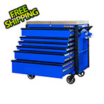 Extreme Tools EX Series Blue  41-Inch 6-Drawer Deluxe Slider Top Tool Cart